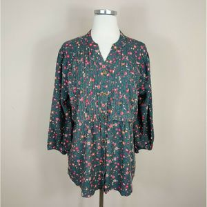Matilda Jane Afternoon Stroll Top Blouse Floral